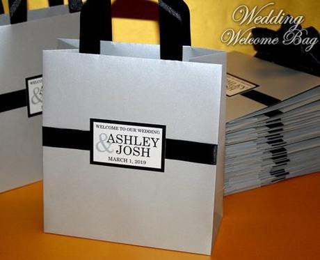 wedding gift bag ideas silver wedding bag