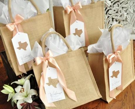 wedding gift bag ideas bag with state tag