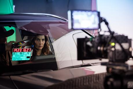 """Actress Cobie Smulders on-set during Toyota's shoot for the 2020 Big Game ad, """"Heroes."""""""