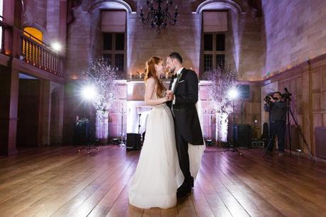 Bride & Groom's first dance at Achnagairn Estate wedding