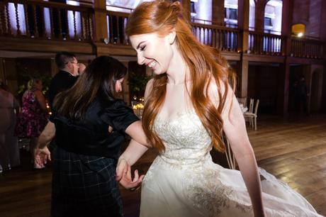 Bride dancing at Achnagairn Estate wedding