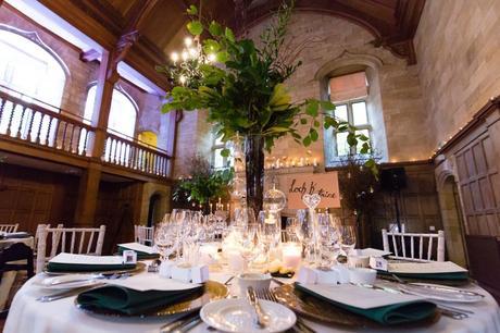 Candlelit wedding styling at Achnagairn Estate wedding