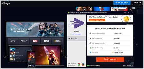 Access Disney+ with PureVPN