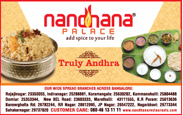 A Great Ambience restaurant with classic Andhra style cuisine in Bangalore!!