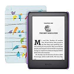 Image: All-new Kindle Kids Edition - Includes access to thousands of books - Rainbow Birds Cover