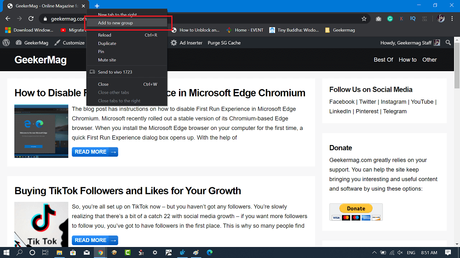 create new tab in chrome browser