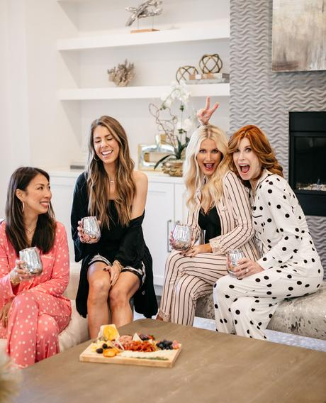 Chic at Every Age // Galentine's Day PJ Party with SOMA