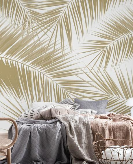 Happy Wall – Palms Gold Cali Vibes 8 Wall Mural