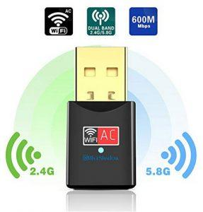 Blueshadow USB WiFi Adapter - Dual Band 2.4G/5G Mini Wi-fi ac Wireless Network Card