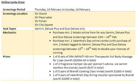 Sweet Valentines' Day Deals With Golden Village