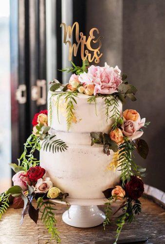 simple elegant chic wedding cakes flower rustic cake lizziebakes