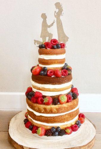simple elegant chic wedding cakes fruit wedding cake taartvoorjou