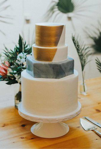 simple elegant chic wedding cakes white modern cake with gold sweettreetsbakery