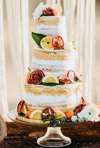 simple elegant chic wedding cakes cake with fruit decor lisettegatliffphoto