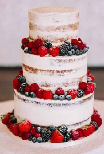 simple elegant chic wedding cakes cake with fruits baked_blessings