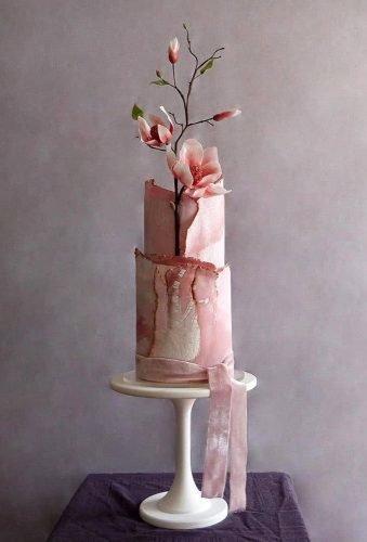 simple elegant chic wedding cakes modern pink cake cakebuds uk