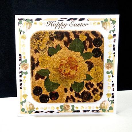 Yellow Rose & Skin Easter Coaster Card