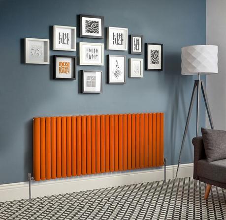 orange designer radiator
