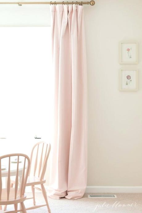 pretty pink curtains bedroom how to hang look like custom drapes