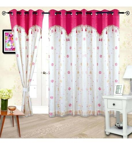 pretty pink curtains bedroom polyester inch door curtain with lining