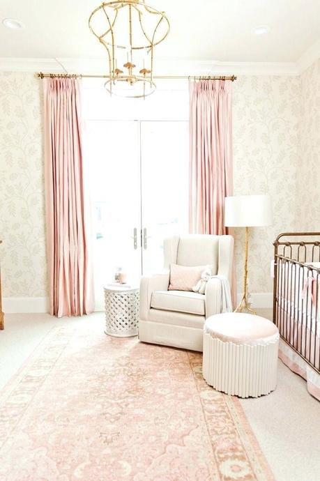 pretty pink curtains cute shower perfect for girl nursery ideas with best