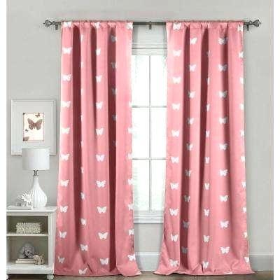 pretty pink curtains bedroom blackout wrinkle resistant drapes