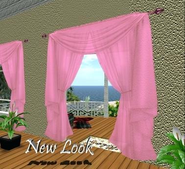 pretty pink curtains cute shower second life marketplace princess chiffon