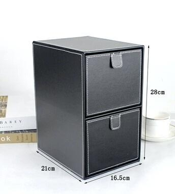 leather for desktop file organizer high grade drawers debris disc box age finishing creative