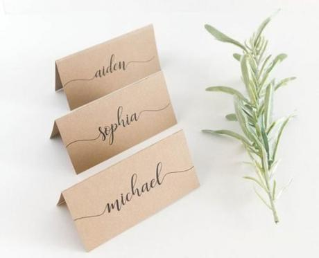wedding place card ideas rustic craft place cards