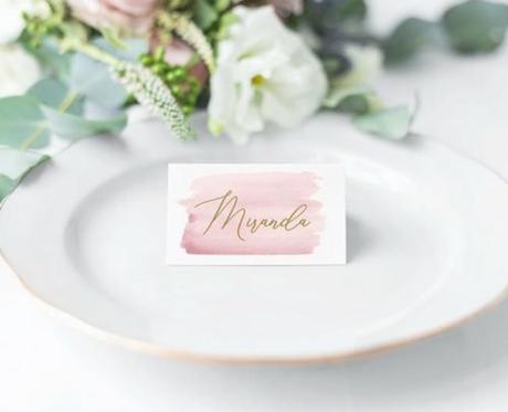 wedding place card ideas watercolor card