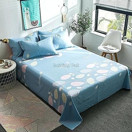 cotton bed linen 100 sets cartoon green forest small giraffe bedding set sheet