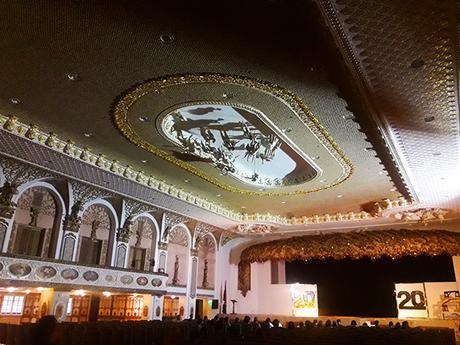 stage inside Hotel de Oriente