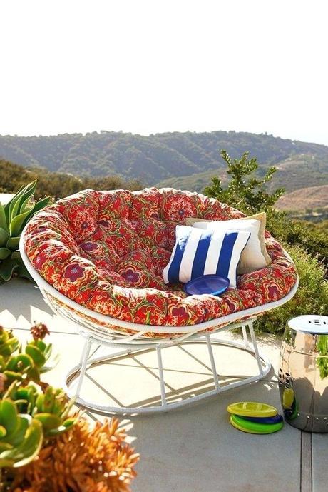 patio papasan chair outdoor furniture pillows cushions pier 1 cushion