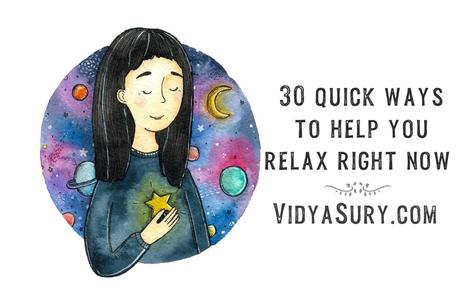 30 quick ways to help you relax right now