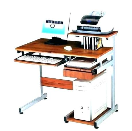 desk for printer storage computer with shelf pull out corner wood com