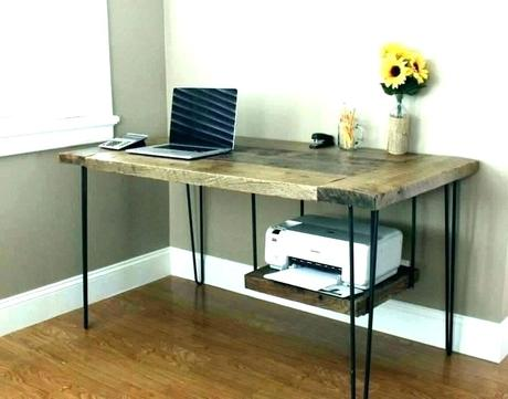 desk for printer with storage and file cabinet under stand