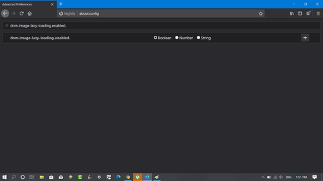 firefox config value - dom.image-lazy-loading.enabled
