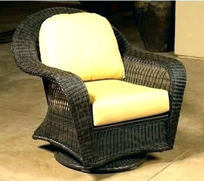wicker outdoor rocker patio swivel furniture rattan chair high back