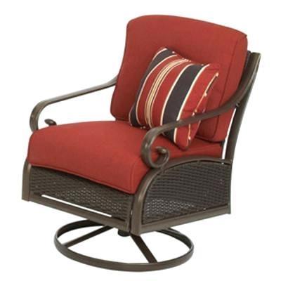 wicker outdoor rocker resin patio rockers cedar island all weather swivel with dragon fruit cushion