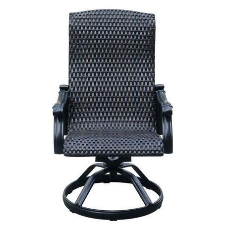 wicker outdoor rocker recliner rocking chair shop onyx swivel dining