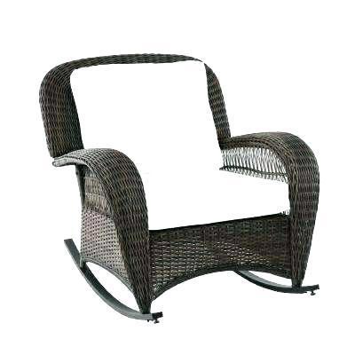 wicker outdoor rocker swivel patio furniture set
