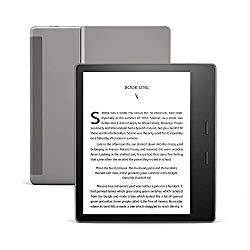 Image: All-new Kindle Oasis - Now with adjustable warm light - 32 GB, Graphite - Free 4G LTE + Wi-Fi (International Version - Vodafone)
