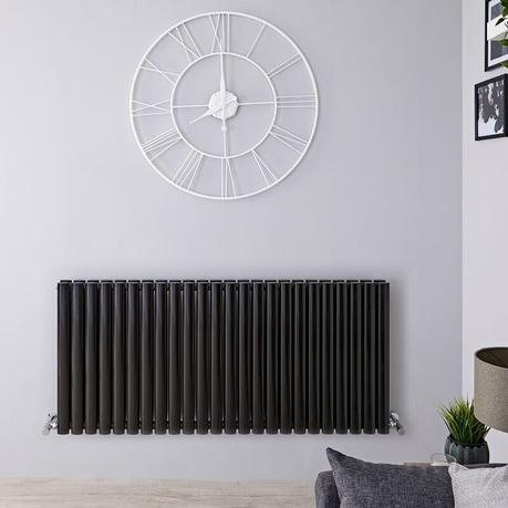 black designer radiator