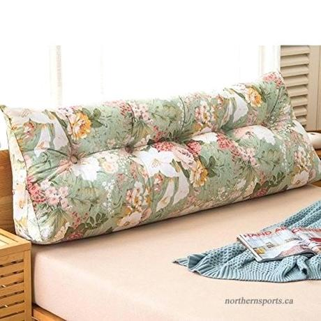 big cushion pillows couch bedside triangle on the bed double tatami backrest and a waist j