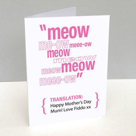 Handmade Personalised 2 Cats Mum Mothers Day Card