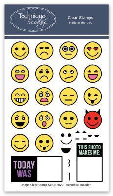 Emojis Stamp Set & Dies | Technique Tuesday