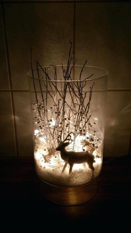 deer xmas decorations decorating elements ltd i took a vase fake snow white glimmer reindeer some