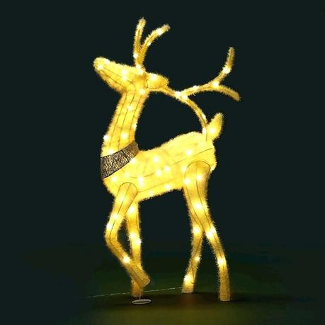 deer xmas decorations decorating ideas for bedrooms reindeer light led rope fairy decor figure warm white
