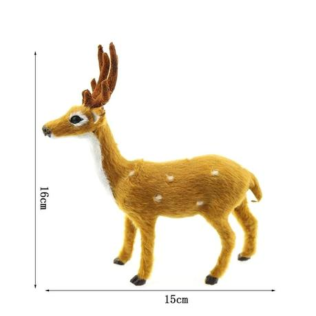 deer xmas decorations decorating small bedrooms with mirrors ornaments for home elk plush simulation noel decoration new year natal