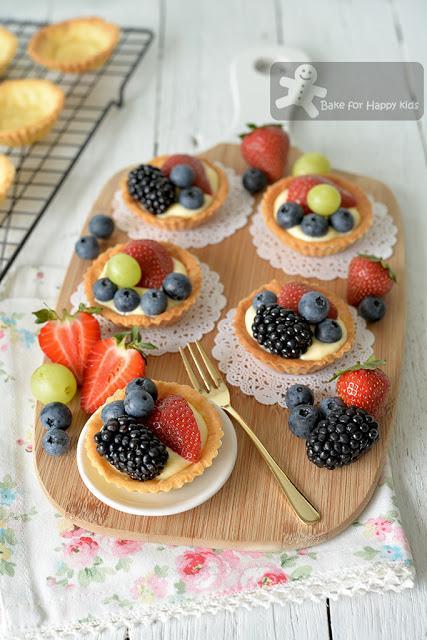 fail proof less sugar mini fruit tart